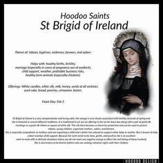 Hoodoo Saints - St Brigid Of Ireland Hoodoo Spells, Magick Spells, Witchcraft, Wiccan Witch, St Brigid, Voodoo Hoodoo, Witch Spell, Book Of Shadows, The Conjuring