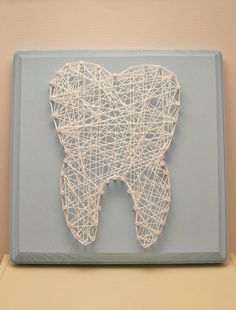 Wisdom tooth string art. Dental art.  Tooth. Molar. Tooth fairy. Dental. Wood plaque. by Stringlandia on Etsy https://www.etsy.com/listing/211086449/wisdom-tooth-string-art-dental-art-tooth