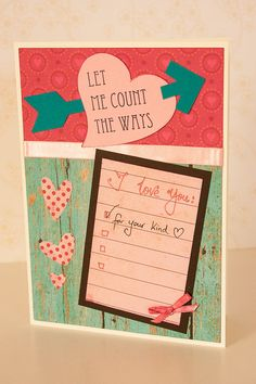 Day messages Valentine Card, Creative Valentines Day Card, L. Day messages Valentine Card, Creative Valentines Day Card, Let Me Count the Way Valentines Day Messages, Valentine Day Gifts, Invitation Paper, Invitations, Love You, Let It Be, Message Card, Love Cards, Creative Cards