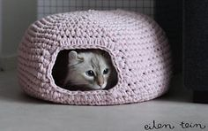 If you have a cat, then you know how much they love nests! So spoil your cat with this beautiful Nest pattern by Hanne Katajamäki. This pattern is fabulous and your cat is going to love it. It looks so comfortable and is a perfect place for hiding or resting. Lucky cat, the one who …