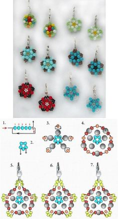 DIY Beautiful Bead Flower Earrings DIY Projects