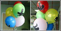 power ranger balloons