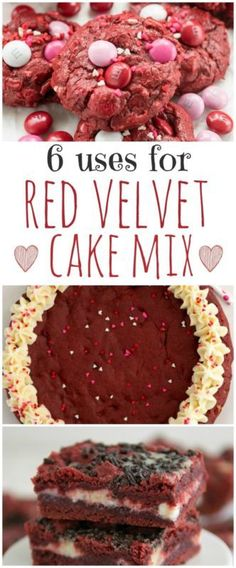 6 Easy Recipes that use a Red Velvet Cake Mix but aren't cake!