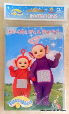 Teletubbies Party INVITATIONS x8 Supplies Invite Decoration Birthday Tinky Windy #PartyInvitations
