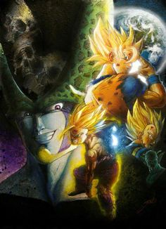 |★| Cell, Gohan, Goku & Vegeta |亀|