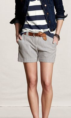 Seersucker Shorts are a must have this summer!!!