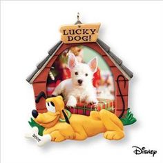 Hallmark Ornament 2007 Lucky Dog - Pluto - Special Dog Photo Holder - #QXD6437 (this would be for our sweet dog Mollie!)