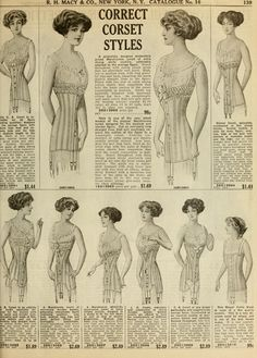 Corsets. Catalogue no. 16, spring/summer / R. H. Macy & Co. (1911)