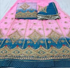 Rajasthani Dress, Rajputi Dress, Embroidered Clothes, Crop Blouse, Jewellery, Quilts, Blanket, Dresses, Fashion