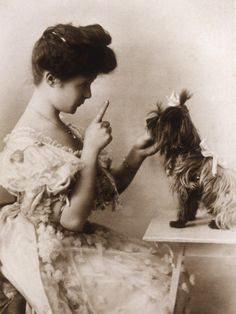Billie Burke with furry friend.