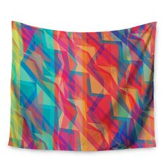 "East Urban Home Triangle Opticals by Miranda Mol Wall Tapestry Size: 60"" H x 80"" W"