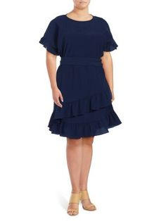 f01d4335ef2 MICHAEL Michael Kors - Plus Ruffled Day Dress