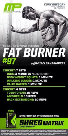 musclepharm workouts on pinterest  fat burner back