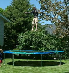 OUR TRAMPOLINES ARE USA MADE, WITH USA STEEL, AND USA EMPLOYEES. Highest Quality Backyard Trampolines on the market.