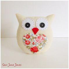 Lavender Scented Owl PDF Sewing Pattern and di SewJuneJones