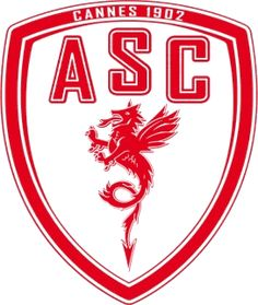 AS Cannes of France crest.