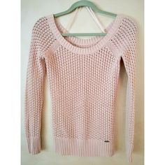 Guess blush, knit sweater || Perfect condition: no stains, stretching, holes, etc. || Worn less than 10 times || super comfortable || dressy or casual || Guess Sweaters Crew & Scoop Necks