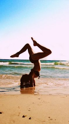 I can not wait till summer! If your gonna hang out with me you better be prepared for yoga at the beach!:p