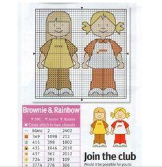 Rainbow & Brownie Cross Stitch