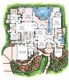 Idea 9 again ▓ Unique Luxury House Plans | images of plan w24042bg unique design house plans and home floor at ...