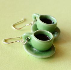 too cute, coffee cup earrings...I so want some of these!