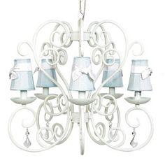 White Carriage 5 Arm Chandelier Chandeliers - LuxuryLamb.Com