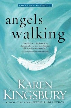 Angels walking by Karen Kingsbury.  Click the cover image to check out or request the romance kindle.