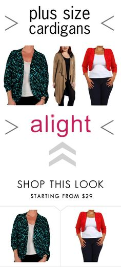 """new plus size cardigans, shrugs & boleros"" by alight-com on Polyvore"