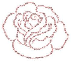 Roos | Bloemen en Planten | glittermotifs Tambour Beading, Tambour Embroidery, Embroidery Motifs, Rose Embroidery, Embroidery Designs, String Art Templates, Rhinestone Art, Dot Painting, Pattern Art