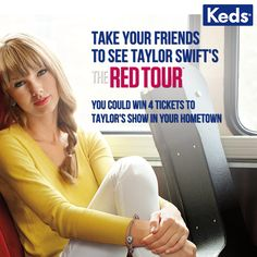 I just entered to win tickets and backstage passes for Taylor Swift's Red Tour! Enter courtesy of Keds: http://bddy.me/13RT1gh