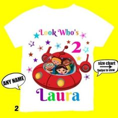 Little Einsteins Birthday Girl Shirt, Personalized with child name and age.