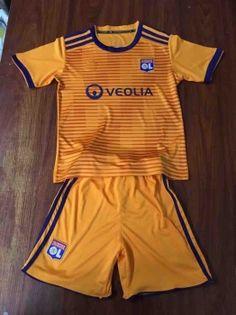 uusoccer provide cheap soccer jersey Olympique Lyonnais Away Orange  Kids Youth Soccer Uniform. Soccer Gears · Soccer Jerseys 2018 c12edd97e