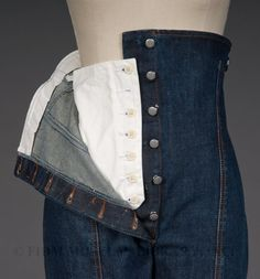 Jodphur-style jeans, JPG By Gaultier, 1995-96 - great idea for tummy control panel