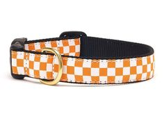 Go Team! Your dog will strut his stuff as the biggest fan at the Game Day Tailgate in this adorable Orange and White Checkerboard Ribbon Dog Collar! Our Team Spirit Dog Collars feature High-tensile st Cool Dog Collars, Cat Collars, Dog Safety, Pet Boutique, Unique Animals, Collar Styles, Dog Walking, Big Dogs, Dog Design