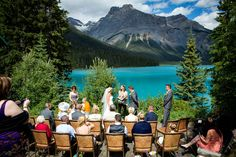 An intimate & relaxed wedding in Banff Canada (image by Kim Payant Photography).