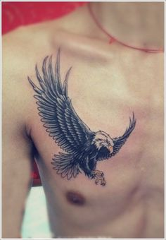 Eagle Tattoo Designs: The Small EAGLE TATTOO DESIGNS And Meaning For Men On Chest ~ tattooeve.com Tattoo Design Inspiration