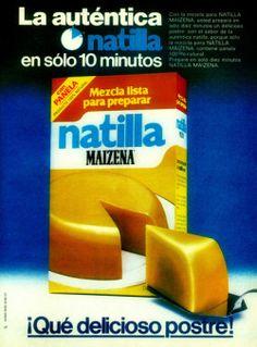 Natilla Maizena, 80's