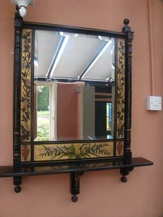 Arts and Crafts Mirrors, Arts & Craft Aesthetic Movement Mirror. Victorian Decor, Eastlake, Mirror Image, Art Decor, Victorian Furniture, Cool Chairs, Period Furniture, Mirror Wall, Mirror