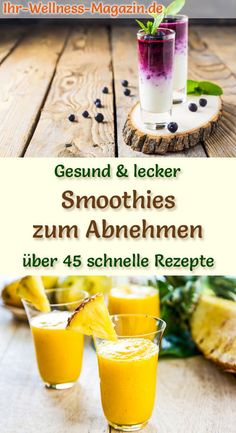 - Smoothies zum Abnehmen – 50 gesunde Smoothie-Rezepte 50 healthy smoothie slimming recipes for breakfast smoothies and fruit smoothies with lots of fruit – low in calories and no added sugar – make smoothies yourself quickly and easily … Smoothie Fruit, Smoothie Detox, Raspberry Smoothie, Breakfast Smoothies, Smoothie Bowl, Healthy Smoothies, Healthy Protein, Smoothies Sains, Detox Recipes