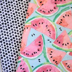 Watermelon Toss Double Ruffle Skirt