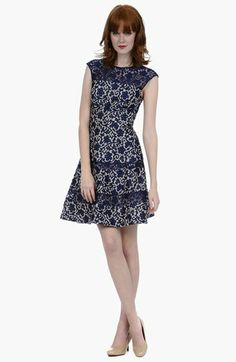 Kay Unger Lace Fit & Flare Dress available at #Nordstrom
