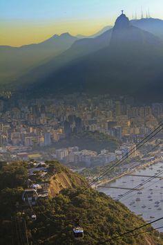 Cristo Redentor (vista do Pão de Açúcar)  Rio de Janeiro (RJ), Brasil