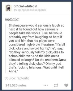 If Shakespeare was alive today