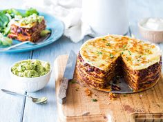 Lasagne gets a Mexican twist with this tasty tortilla stack recipe. Featuring layers of spiced beef, chilli beans and melted cheese, this dish is sure to become a family favourite