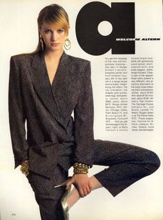 Cecilia Chancellor, US Vogue 1985, as seen in Lady Moriarty's blog