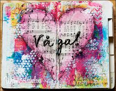 art journal page by webmosterhelene - gorgeous texture on this!!