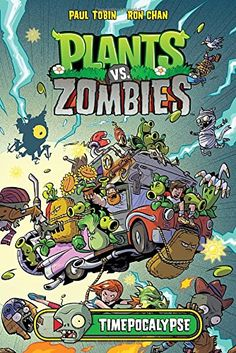 """Read """"Plants vs Zombies: Timepocalypse"""" by Paul Tobin available from Rakuten Kobo. Zombies game gets another serving of hilarious, plant-filled, zombie-zapping comic. Plants Vs Zombies, P Vs Z, Plantas Versus Zombies, Funny Books For Kids, Plant Zombie, Horse Books, Spiderman, Chapter Books, Kids Reading"""