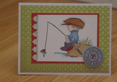 Fishing you birthday wishes by mayodino - Cards and Paper Crafts at Splitcoaststampers