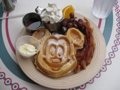 Mickey Waffle at the Carnation Cafe - family favorite!!