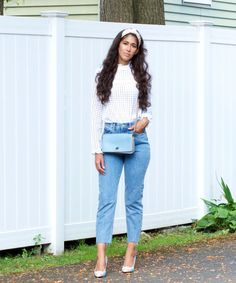 We are well into August, which is known to be the hottest month of the year and it's been really holding up to its reputation lately. On those days you just don't know what to wear, I'd urge you to consider wearing is eyelet! It's perfect for keeping comfortable and stylish with a feminine flare, making it a suitable option on days when it's especially hot and humid. Stop by the blog for more details Fashion Bloggers, Latest Fashion Trends, High Waisted Mom Jeans, Hourglass Shape, My Beautiful Friend, Eyelet Top, Shoes With Jeans, Get Dressed, Winter Style